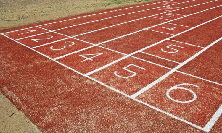 Synthetic Grass and Rubber | Synthetic Grass Running Track