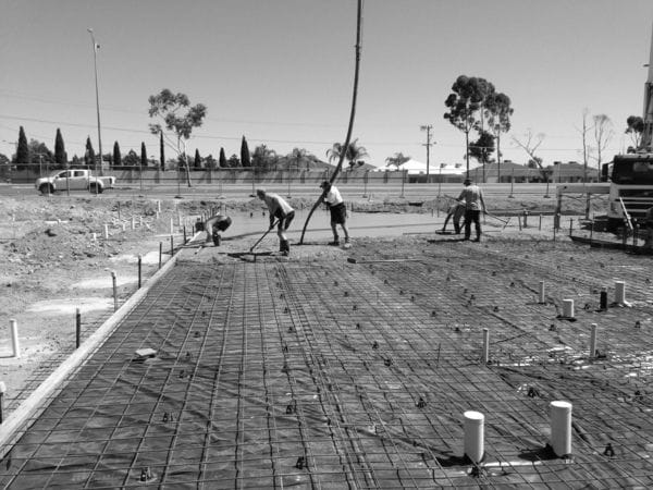 prepare, pour and finish large amounts of hand placed concrete to the Construction, Industrial and Infrastructure Services Sector. Structural Foundations, Concrete Slabs, Formwork, Steel Fixing