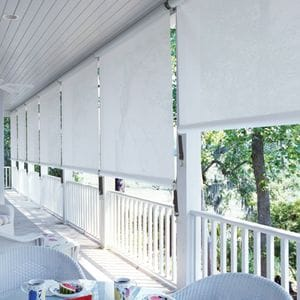Spring Roller Awning with Straps