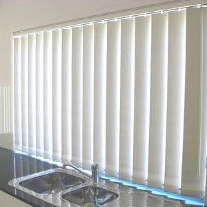 White Blockout Vertical Blinds