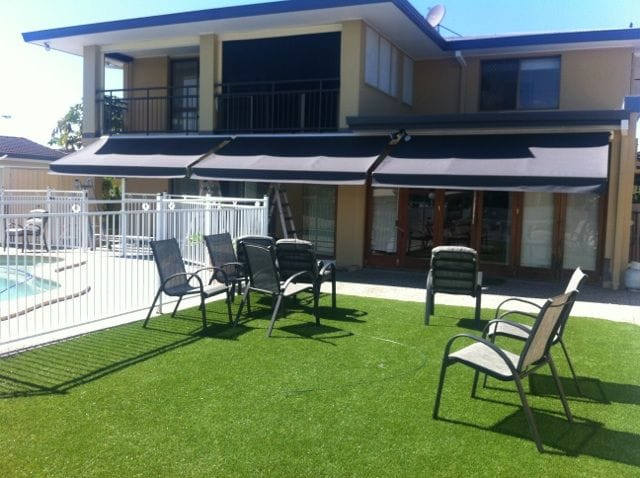 Folding arm awnings on the Gold Coast