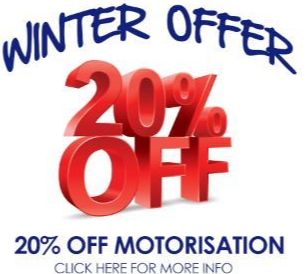 20% off motorised blinds