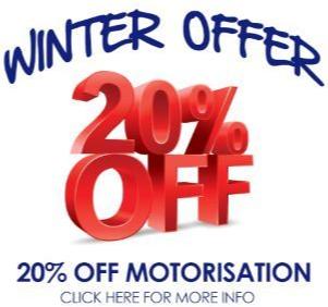 20% of motorised blinds - winter offer