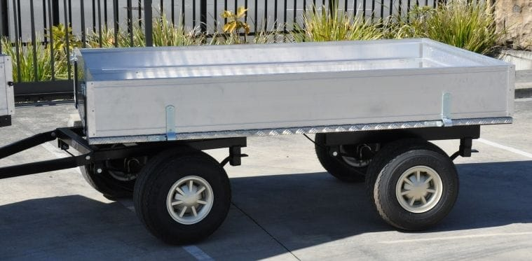 trailer general cargo 4-wheel self steer custom | golf car world