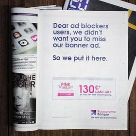 To dodge ad blockers this bank ran banner ads in newspapers instead