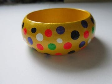 Yellow Polka Dots - Wide
