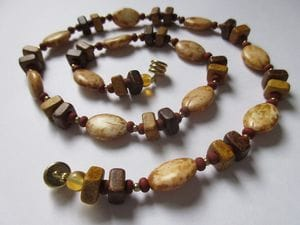 Fancy glass, stone, wood—magnetic clasp