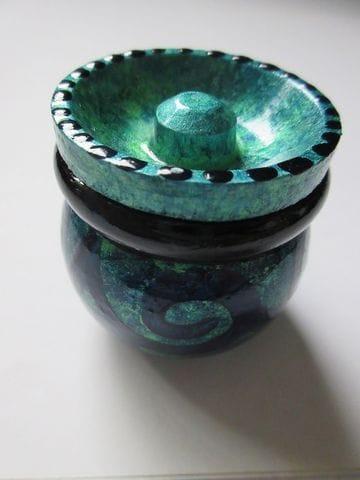 BLUE/GREEN MARBLED SWIRLS