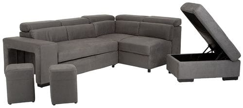 Graceland 3 Seater Lounge with Sofa Bed, Storage Chaise + Ottoman and Footstools Related