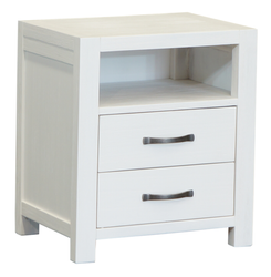 French Coast 2 Drawer Bedside