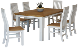 Hamptons 7 Piece Dining Suite 1800 Table