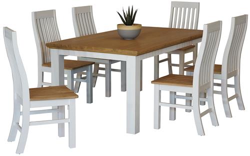 Hamptons 7 Piece Dining Suite 1800 Table Main