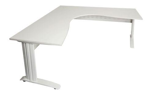 Rapid Span Corner Desk 1800/1500mm (White) Main
