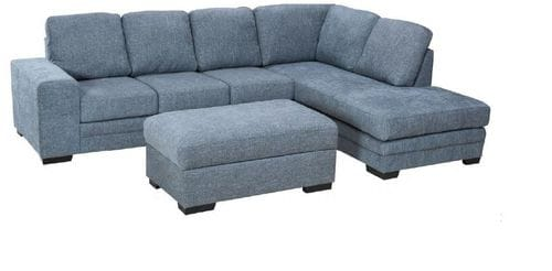 Lachlan 3 seater with Chaise + Gas Lift Ottoman Main