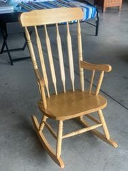 Fish Colonial Rocking Chair