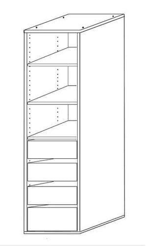 Wardrobe Insert - 4 Drawer + 3 Shelves Main