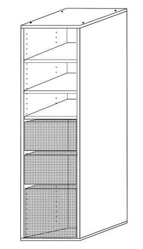 Wardrobe Insert - 3 Basket + 3 Shelves Main