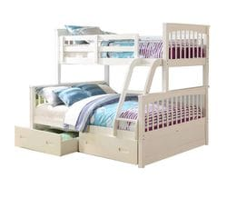 Brighton Single/Double Bunk Bed with Drawers