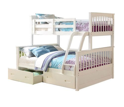 Brighton Single/Double Bunk Bed with Drawers Main