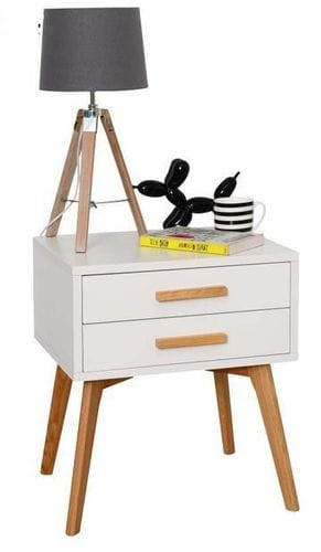 Danish 2 Drawer Bedside Table Main
