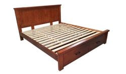 Allora King Bed with Drawers