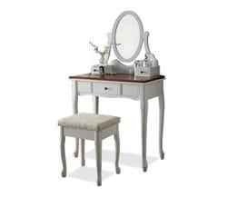 Amber Dresser with Stool