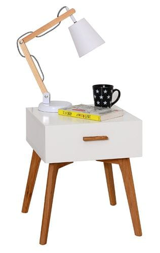 Danish 1 Drawer Bedside Table Main