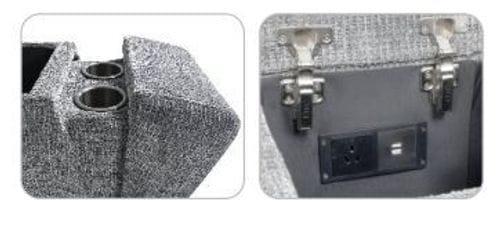 Brooklyn Corner Modular Lounge with RHF Chaise - Charcoal Grey Related