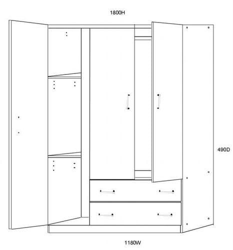 Wardrobe 3 Door Related
