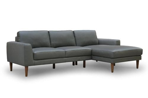 Jamison 3 Seater Leather Lounge with Chaise Main