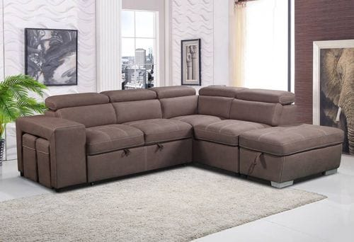 Positano 2 Seater Chaise Lounge with Sofabed & Ottoman Main