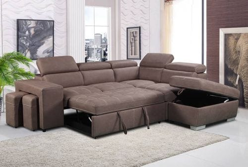 Positano 2 Seater Chaise Lounge with Sofabed & Ottoman Related