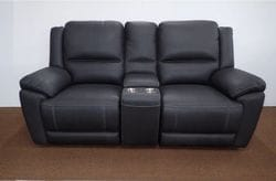 Toorak 2 Seater Reclining Lounge with Storage Console