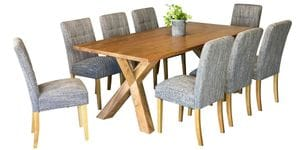 Sussex & Waffle 9 Piece Dining Suite