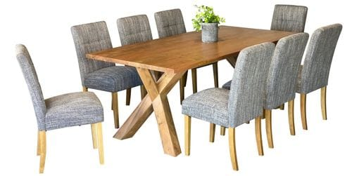 Sussex & Waffle 9 Piece Dining Suite Main