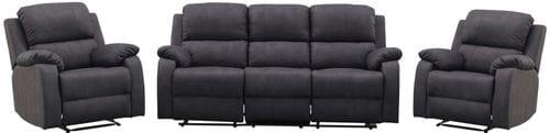 Largo 3 Seater Reclining Lounge Suite Main