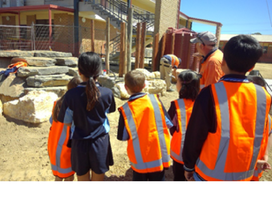 SRC tour of our Nature Play building project