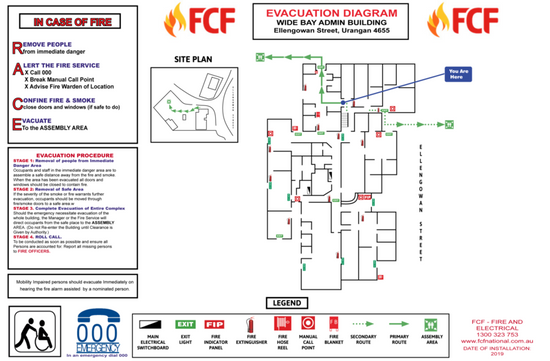 Display Fire Evacuation Diagrams in the Workplace
