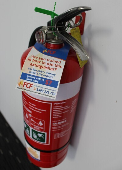 Fire extinguisher installation and testing