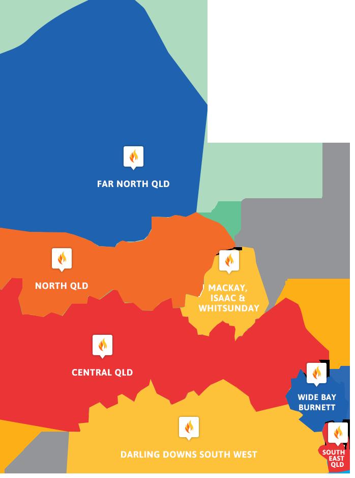 Queensland FCF Map