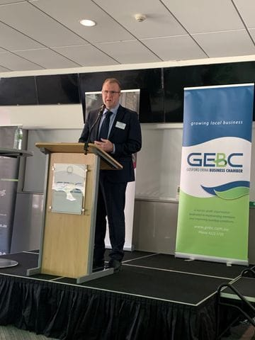 Ben Morton MP addresses Gosford Erina Chamber members on Federal Budget
