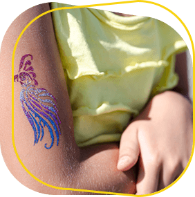 Party Glitter Tattoos | Magical World Entertainment