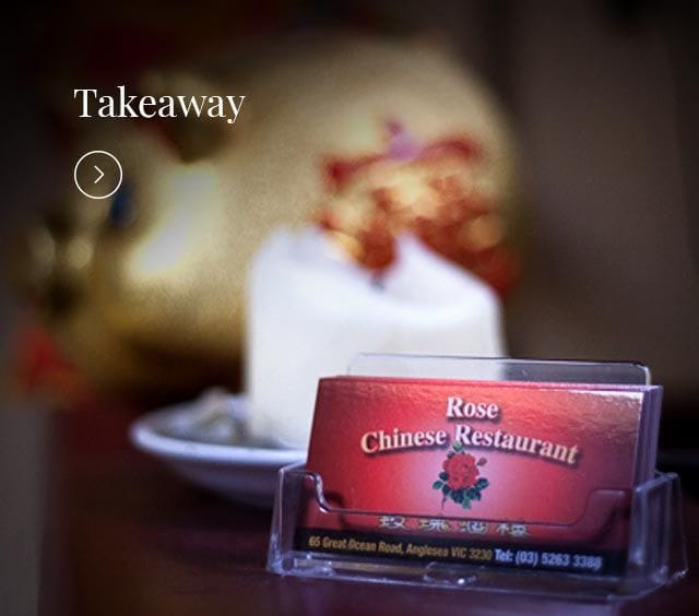 Rose Chinese Restaurant Anglesea Take Away Menu