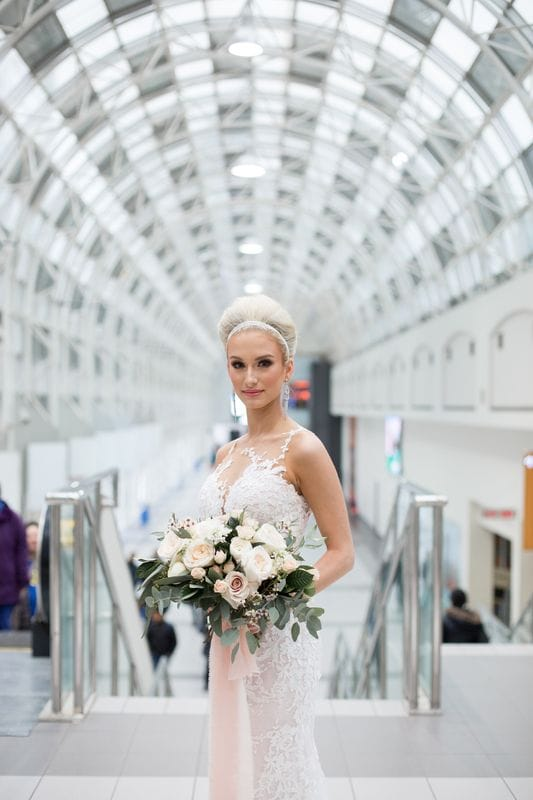 A Bridal Portrait Session in The Skywalk | Toronto Ontario