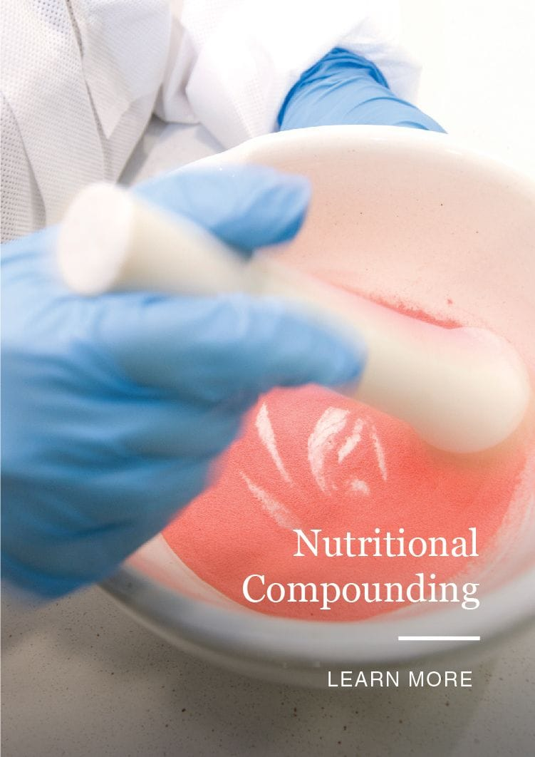 Compounding custom medicine for clinic