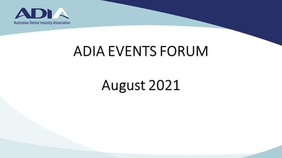 Video now available for the August Events Forum webinar