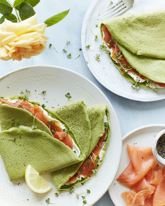 Spinach and Beetroot Pancakes
