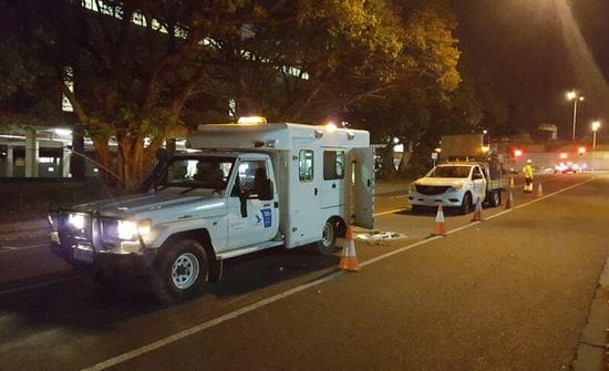 CCTV Drain Condition Inspections - Night Work in Brisbane City