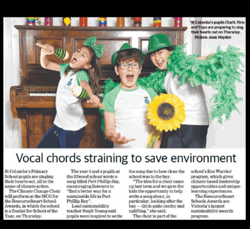 Climate Change Choir in the Leader Newspaper