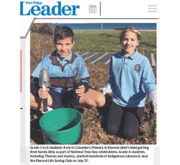 St Columba's greenies in the news!